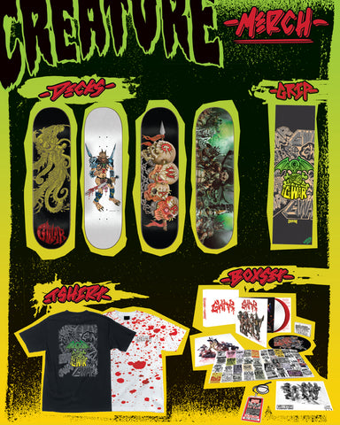 GWAR X Creature skateboard collaboration OUT NOW