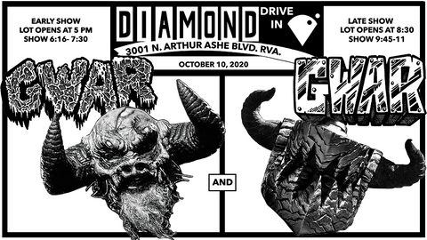 GWAR Announces Two Drive-In Shows For October 10th in Richmond, VA