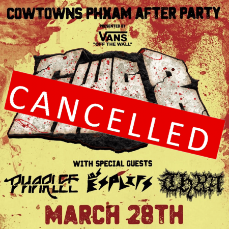 Cowtowns Phxam After Party Canceled