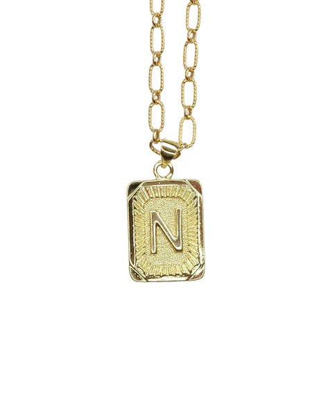Tag Me Necklace | Gold-Filled Initial Necklace