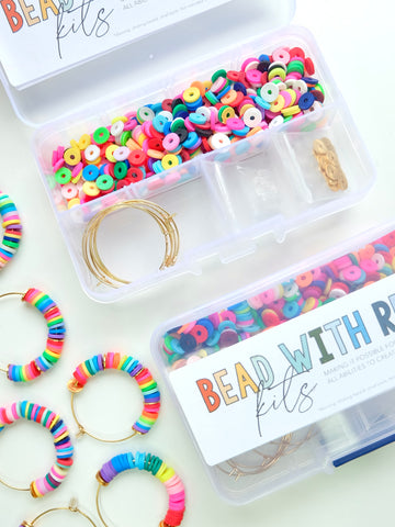 Confetti Hoop Bead Kit | Makes Three Pairs of Hoop Earrings