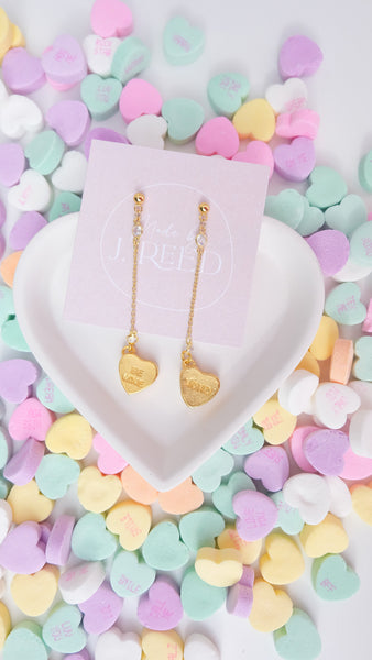 Candy Heart Drop Earrings