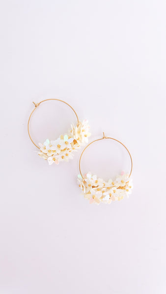 The Katy Earrings in Pearl