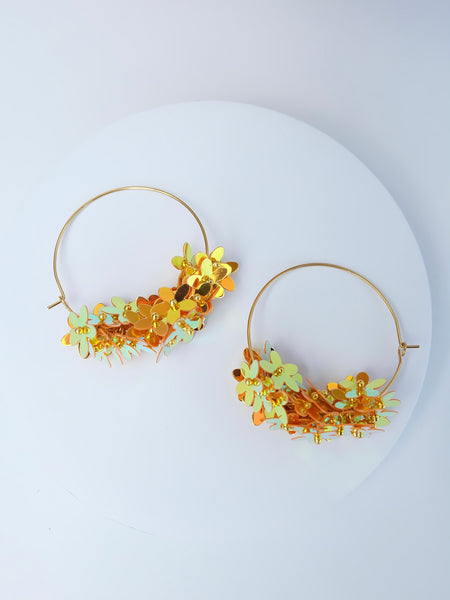 The Katy Earrings in Citrus