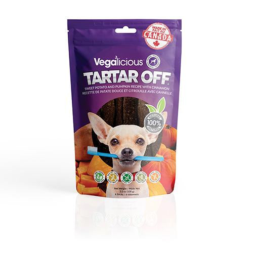 Vegalicious Tartar Off® - Dental Sticks with Sweet Potato and Pumpkin with Cinnamon