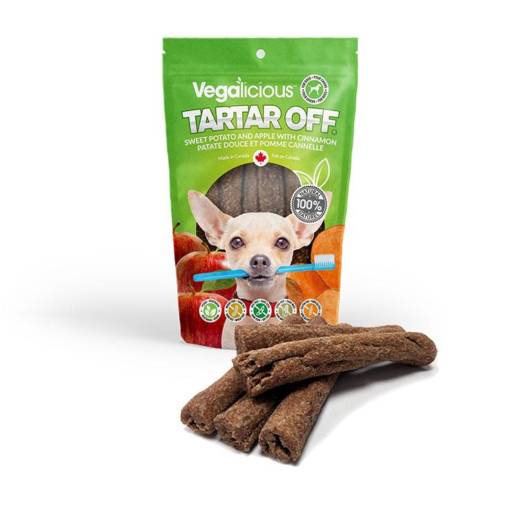 Vegalicious Tartar Off® - Dental Sticks with Sweet Potato and Apple with Cinnamon