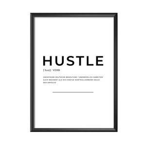 Hustle Definition Poster