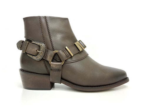 Cowgirl Ankle Boot Brown oobash