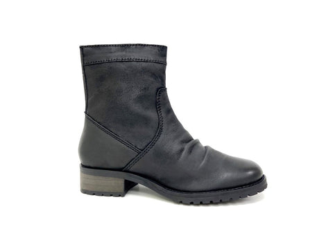 Black Slouchy Leather Boot