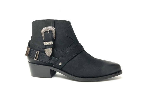 Cowgirl ankle Boot Black