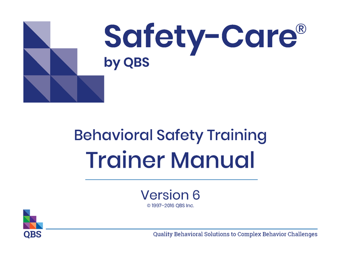 Safety-Care Trainer Manual