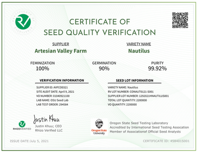 Nautilus | Verified Feminized CBG Seeds