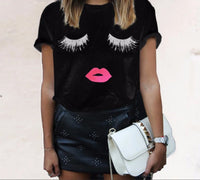 Lashes and Lip Gloss T-shirt