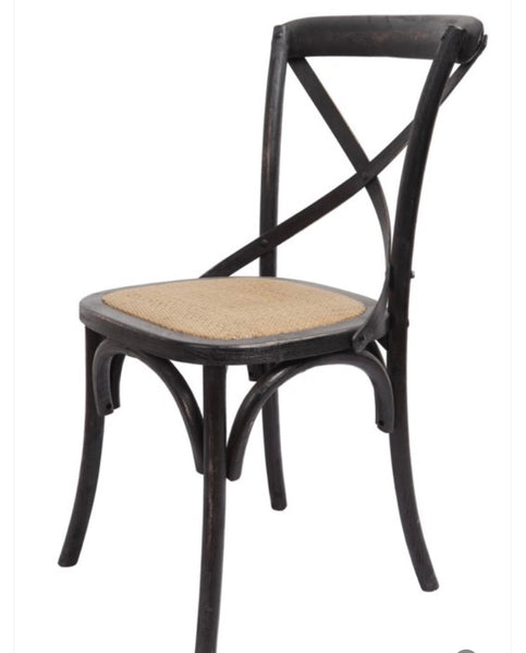 Black X-Back Chair