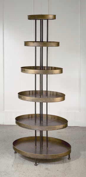Oval Tiered Shelf