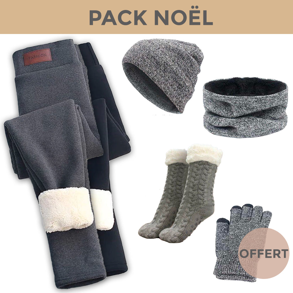 PACK COCOONING - 2 Leggings + Pack Winter + Chausson