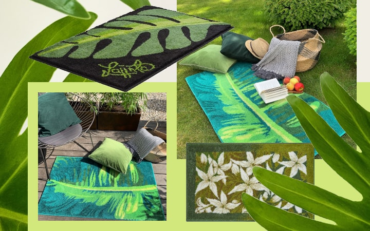 Inspiration tropisches Flair mit Outdoor-Teppichen