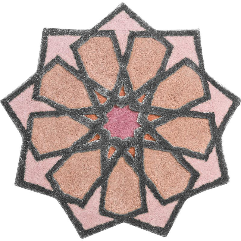 SHEREZAD - designer rugs pink-peach-silver
