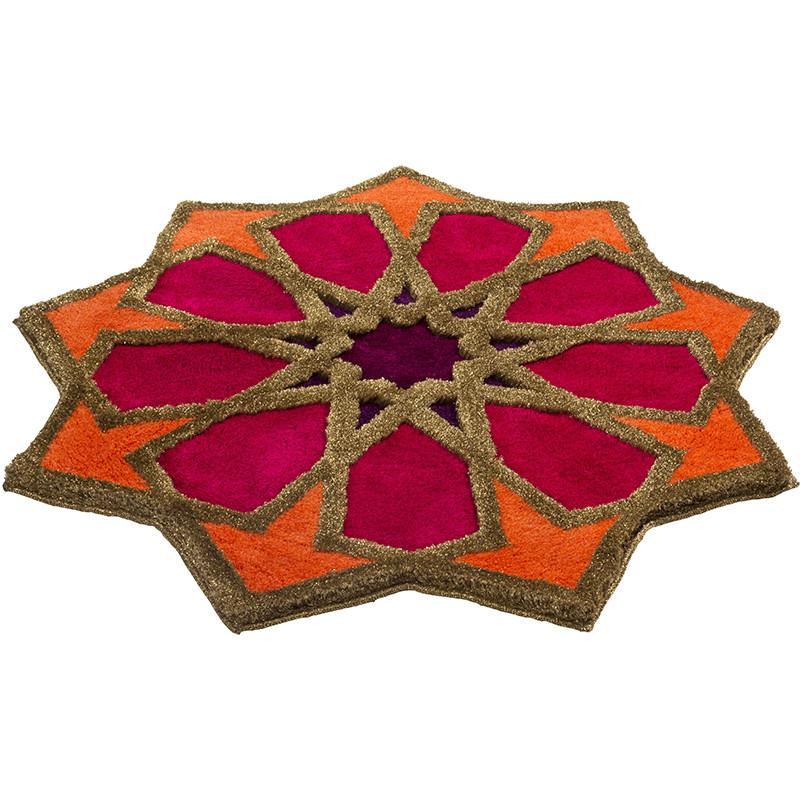 SHEREZAD - designer rugs orange-pink-purple-gold