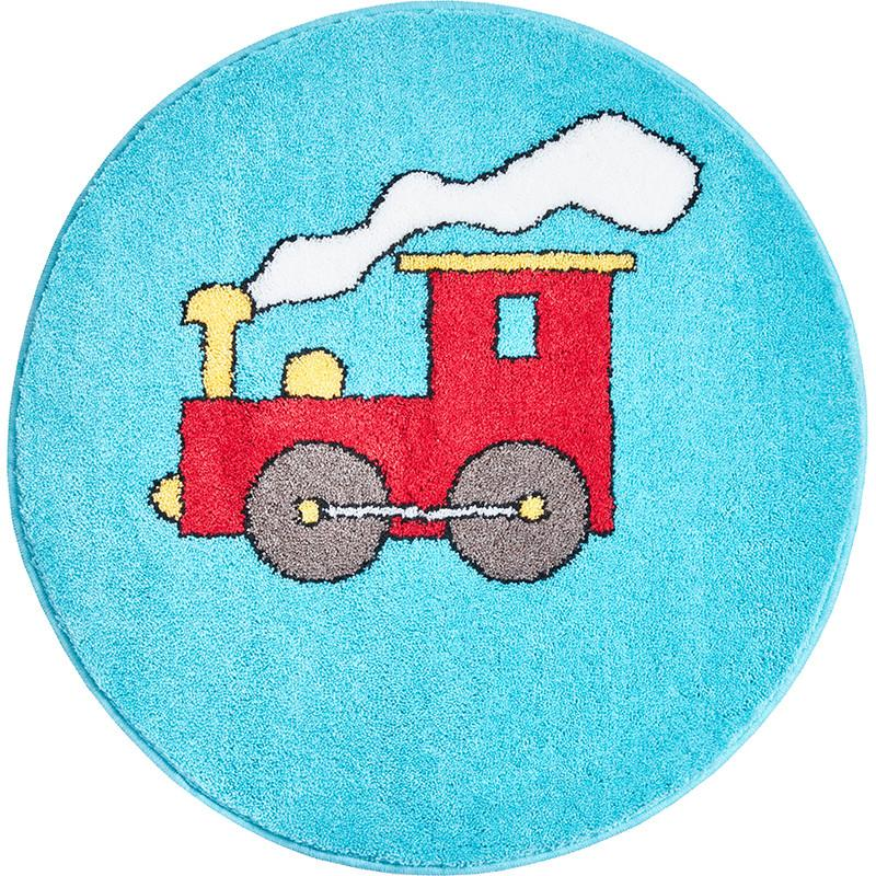 RED TRAIN - Kinderteppich blau-rot