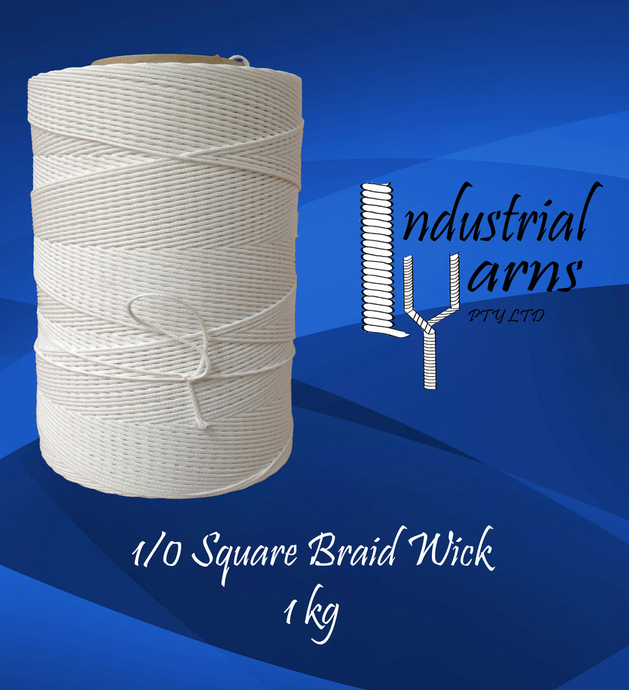 1/0 Square Braid Wick Large Roll