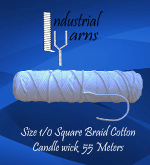 1/0 Square Braid Wick Small Roll