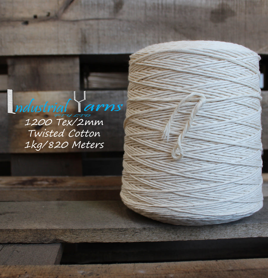 2mm Twisted Natural Cotton