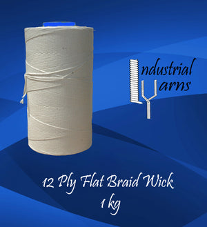 12 Ply Flat Braid Wick Large Roll
