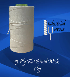 15 Ply Flat Braid Wick Large Roll