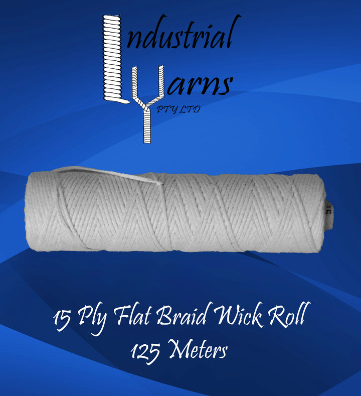 15 Ply Flat Braid Wick Small Roll