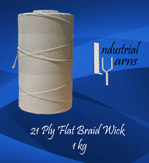 21 Ply Flat Braid Wick Large Roll
