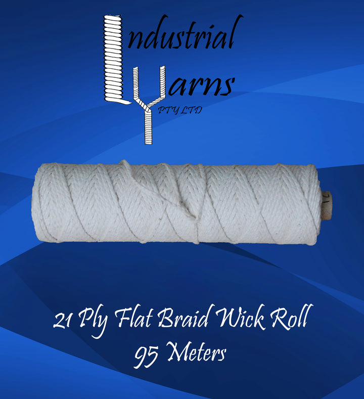 21 Ply Flat Braid Wick Small Roll