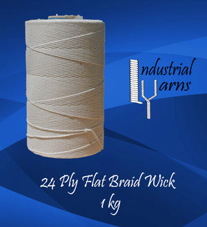 24 Ply Flat Braid Wick Large Roll