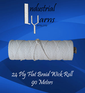 24 Ply Flat Braid Wick Small Roll