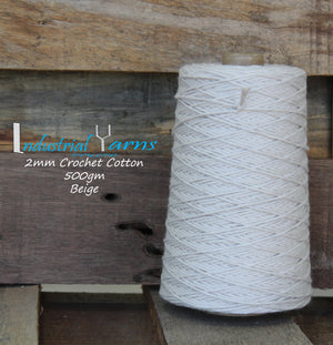 2mm Twisted Cotton Beige