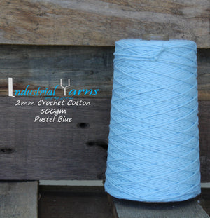 2mm Twisted Cotton Pastel Blue
