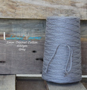 2mm Twisted Cotton Grey