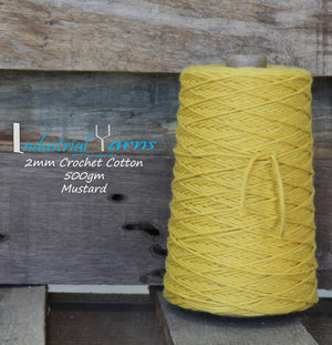 2mm Twisted Cotton Mustard