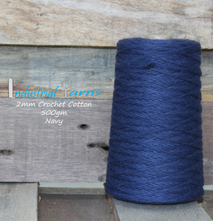 2mm Twisted Cotton Navy