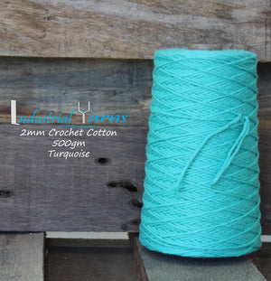 2mm Twisted Cotton Turquoise
