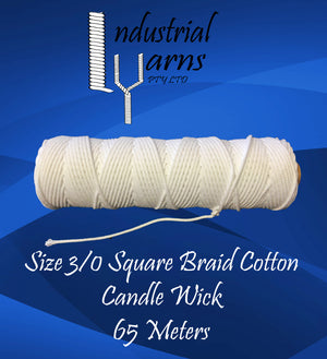 3/0 Square Braid Wick Small Roll
