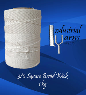 3/0 Square Braid Wick Large Roll