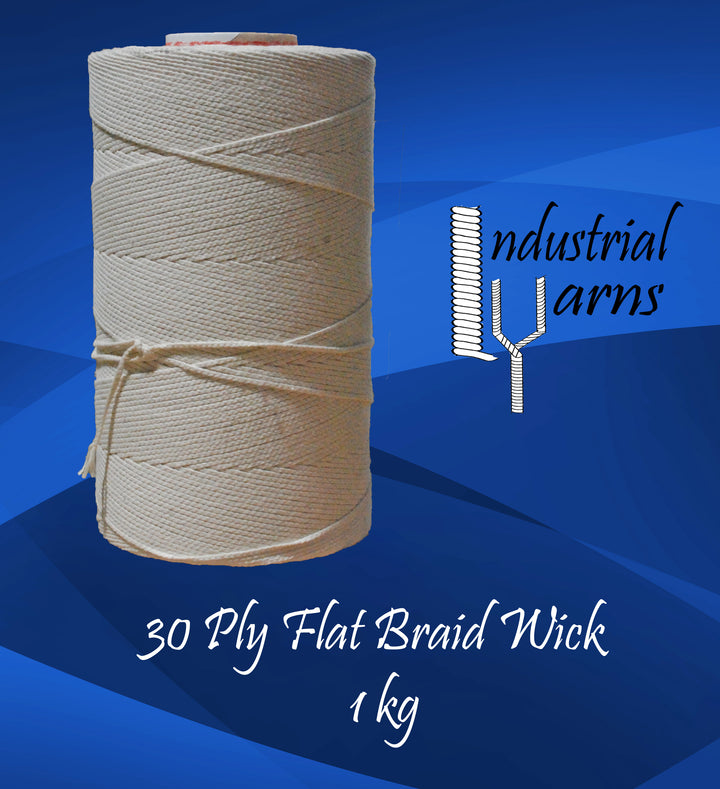 30 Ply Flat Braid Wick Large Roll