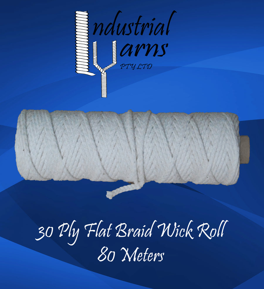 30 Ply Flat Braid Wick Small Roll