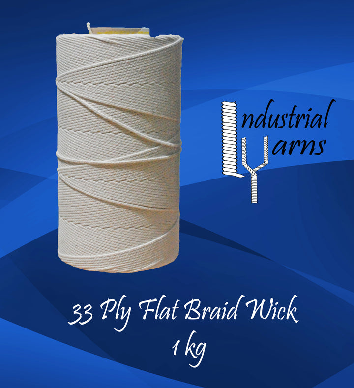 33 Ply Flat Braid Wick Large Roll