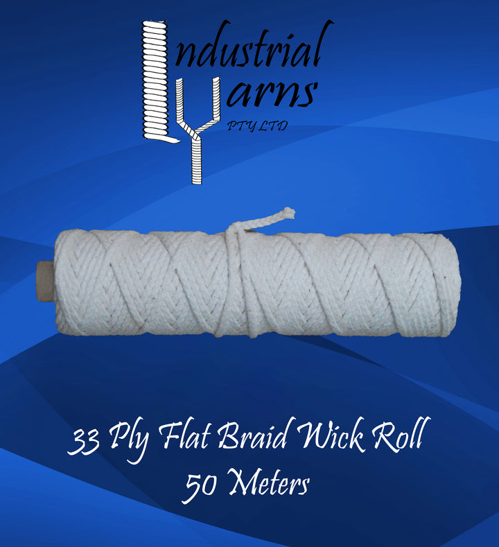 33 Ply Flat Braid Wick Small Roll