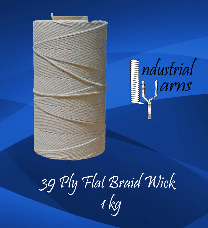 39 Ply Flat Braid Wick Large Roll