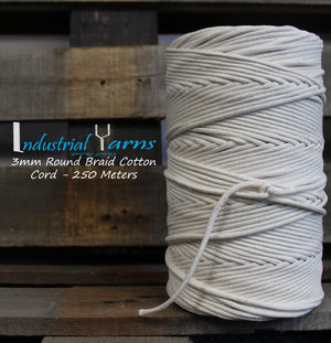 3mm Round Braid Cotton Cord 250m