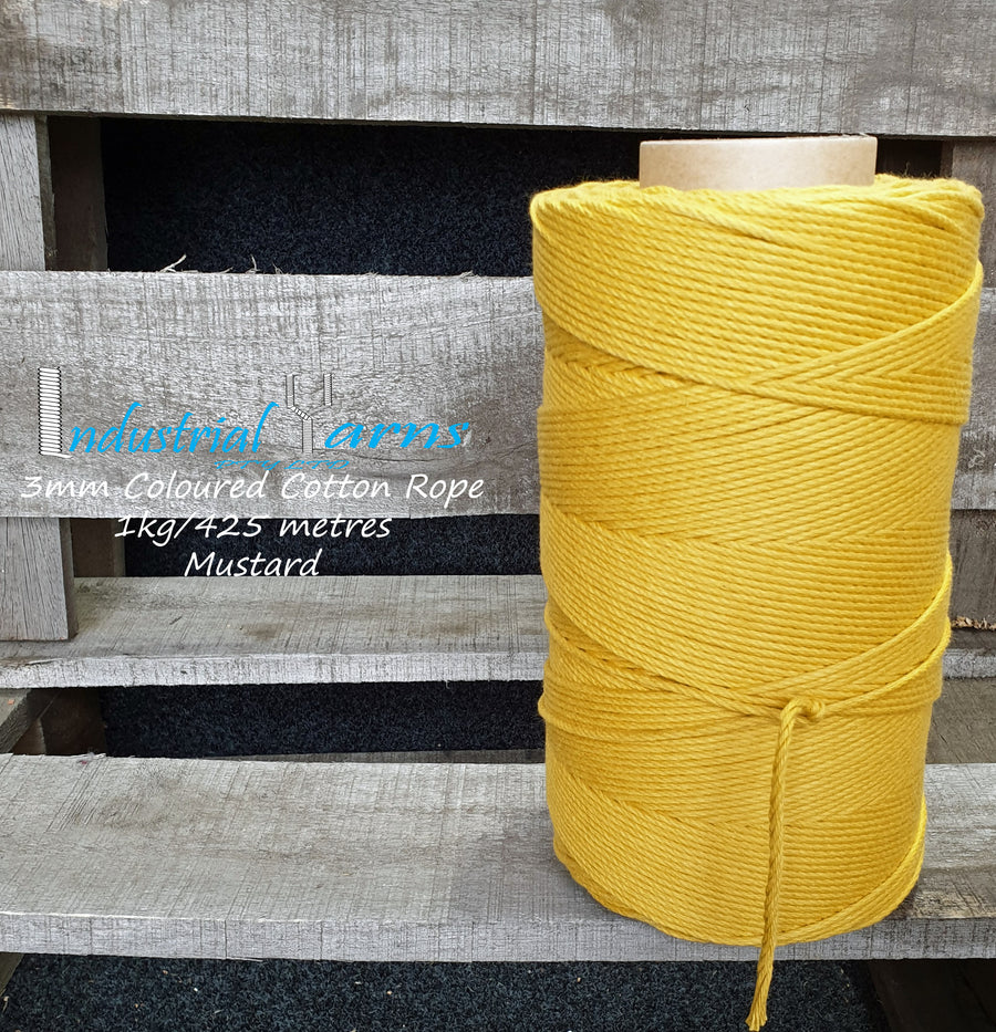 3mm Twisted Rope Mustard