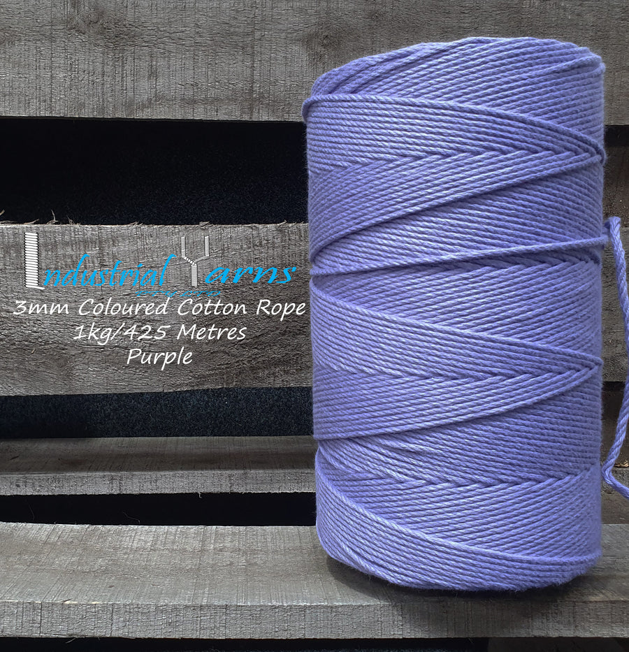 3mm Twisted Rope Purple